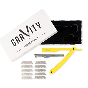 Amazon.com: Maquinilla de afeitar profesional recta para ...