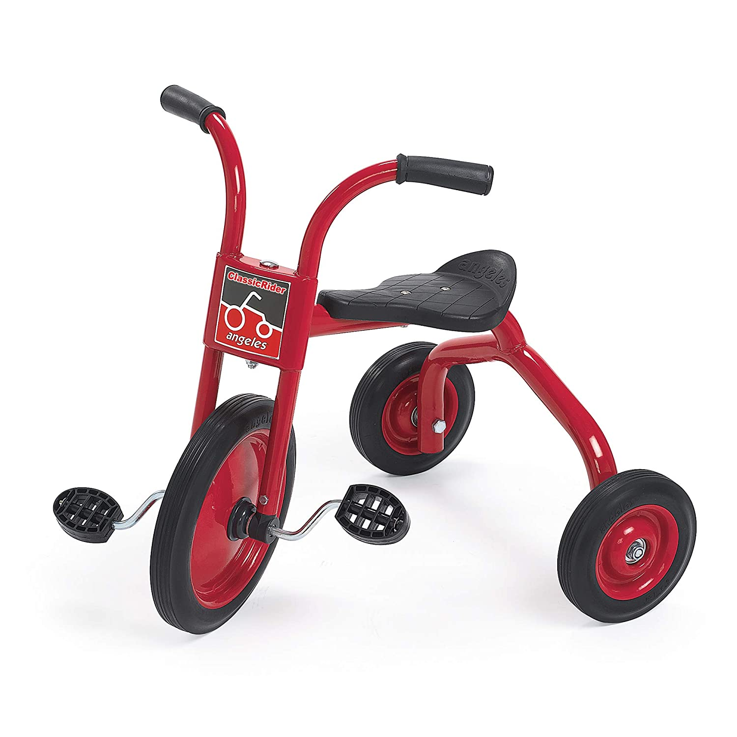 """Angeles ClassicRider 12"""" Trike Bike, Red – Perfect for Beginner Riders Ages 3+ – Encourages Active Play – Supports Up to 70lbs. – Durable Design with Built-In Safety Features – Comfortable Ride"""
