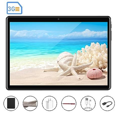 Tablets Baratas,8Pcs 3G 10 Pulgadas 2GB De Ram 32GB ROM Dual SIM Octa-Core 5000mAh Batería Android 7.0 Resolucion de Pantalla 1920x1200 Pixeles Cámara ...