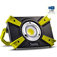 Sunix Foco Led Recargable 30w, Luz de Trabajo 48 Leds con asa Magnética, 4 Modos, Impermeable IP64 con Baterías…