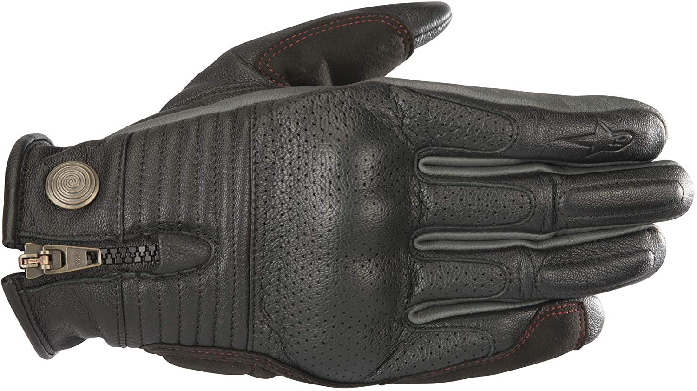 guantes de moto de cuero vintage Alpinestars