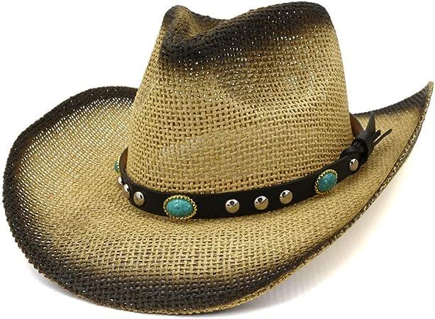 Cappello Di Paglia Da Cowboy Occidentale Di Classe Per Uomini Donne