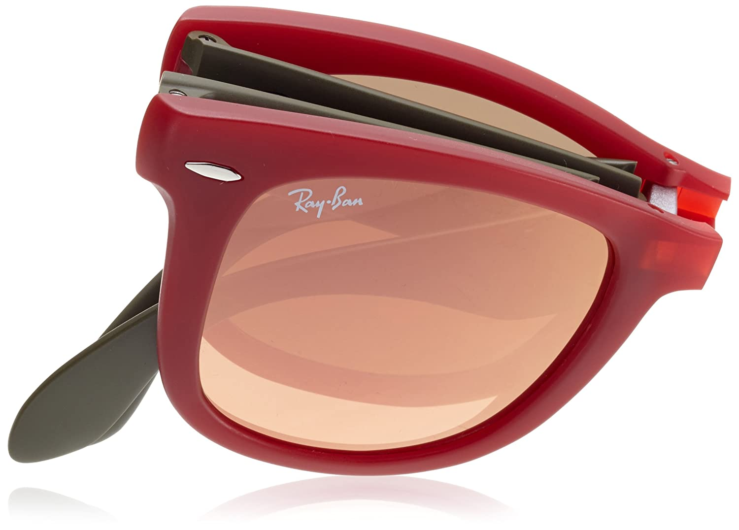 65eb30f3e9 Amazon.com  Ray-Ban RB4105 Wayfarer Sunglass-6050Z2 Red Green (Copper Flash  Lens)-50mm  Ray-Ban  Shoes