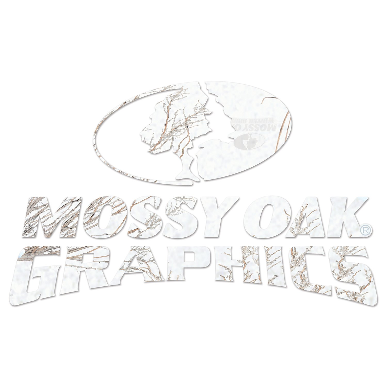 Mossy Oak Graphics 13007-WB-L Winter Oak Brush 14.25 x 9 Camo Logo Decal