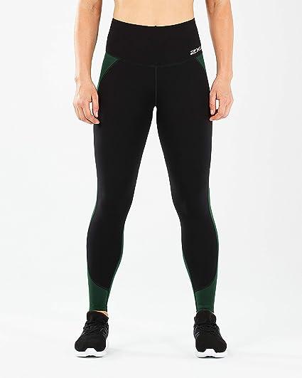c7e986b9ec 2XU Women's Fitness Hi-Rise Comp Tights, Black/Mountain View, ...