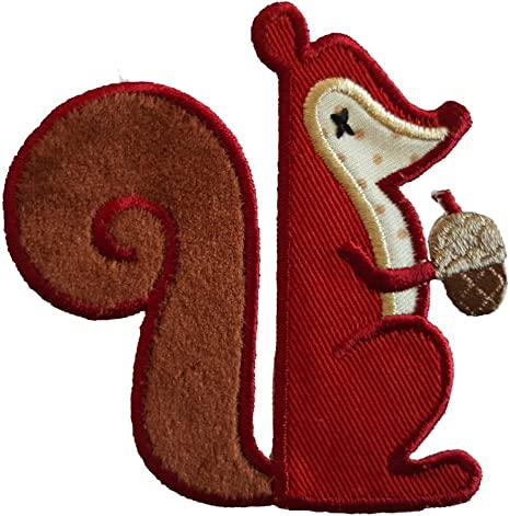 2 Parche de bordado o planchado Ardilla 8X8Cm Bellota 7X8Cm termoadhesivos bordados aplique para ropa con diseño de TrickyBoo Zurich Suiza por España: Amazon.es: Bebé