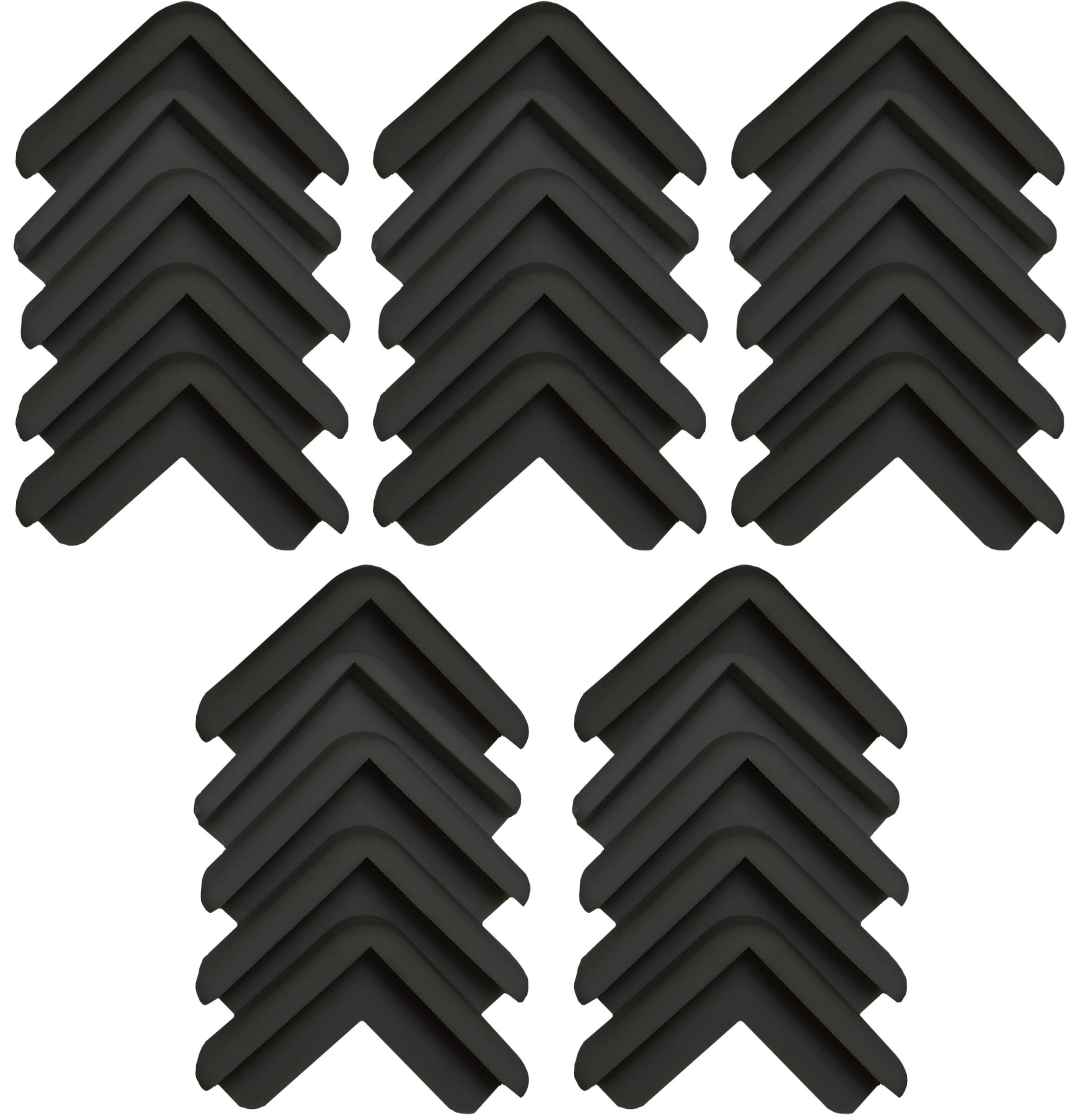 Boing Safety | Mini 2D Rubber Corner Guards | 25 Pack | Black by BOINGSAFETY (Image #1)