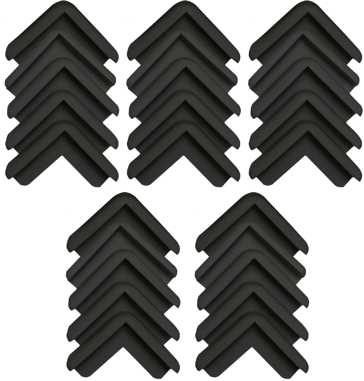 Boing Safety | Mini 2D Rubber Corner Guards | 25 Pack | Black