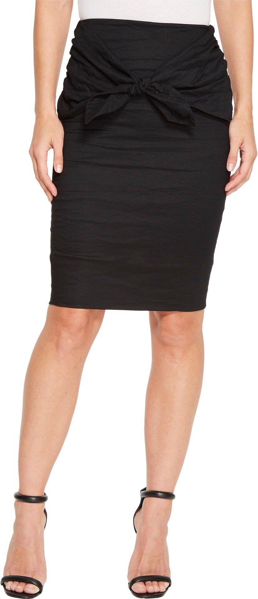 Nicole Miller Women's Brandi Cotton Metal Skirt Black 6