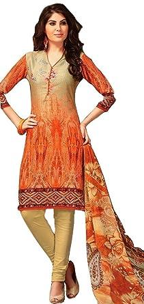 cf33b35b3c Image Unavailable. Image not available for. Colour: The Blind Stitch  Women's Cotton Salwar Suit Set ...