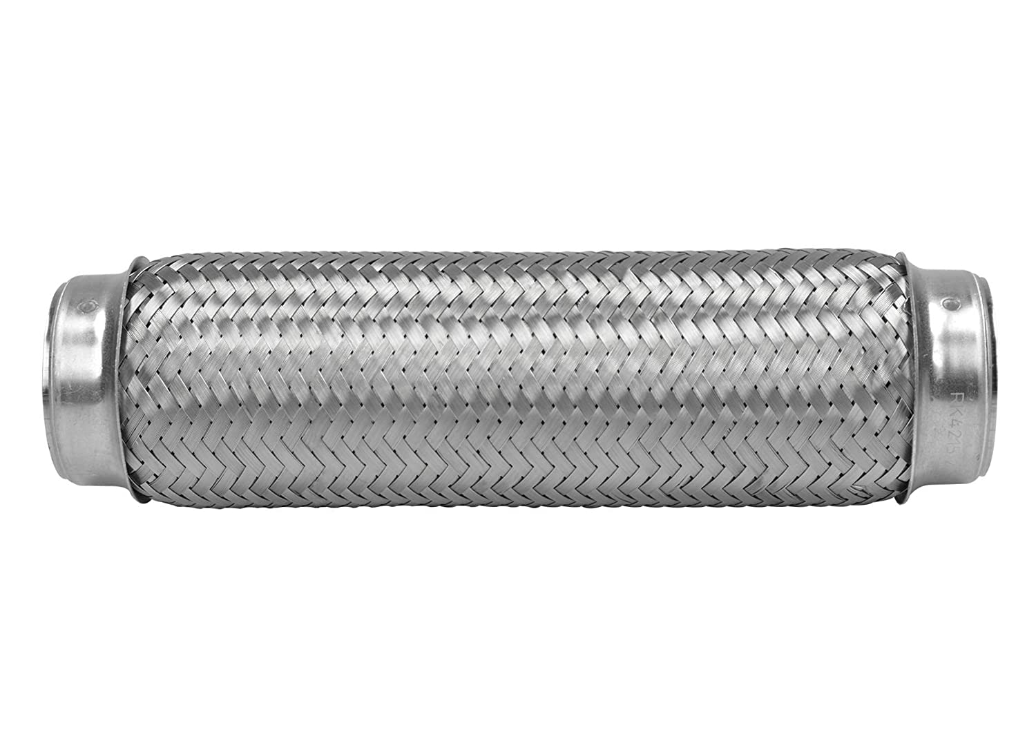 "Universal Stainless Steel 4/"" Braided Weldable Flex 8/"" X 2.5/"" Inlet Custom Pipe"