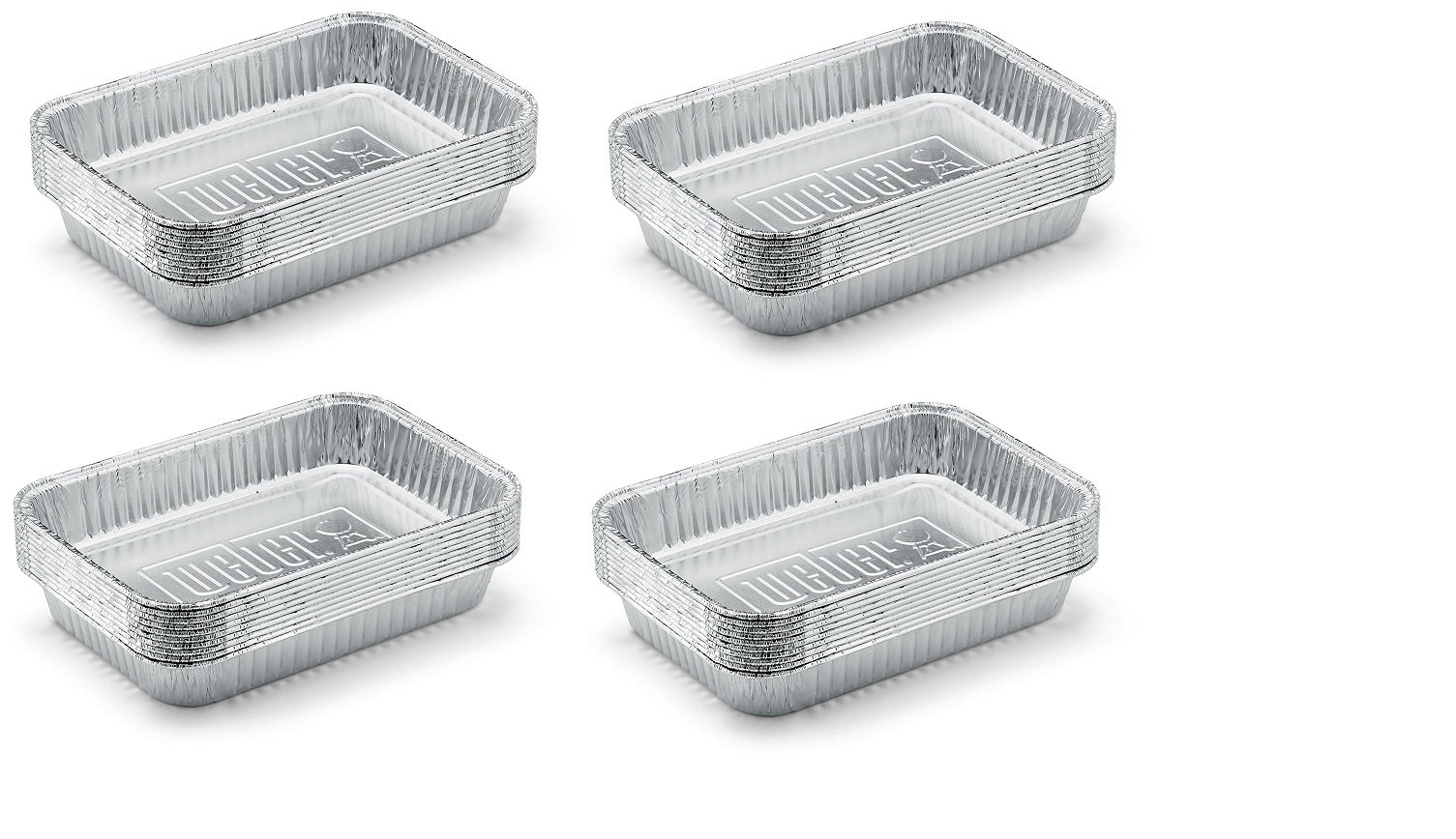 Weber 6415 Small 7-1/2-Inch-by-5-inch Aluminum Drip Pans, Set of 10 (4-Sets of 10)