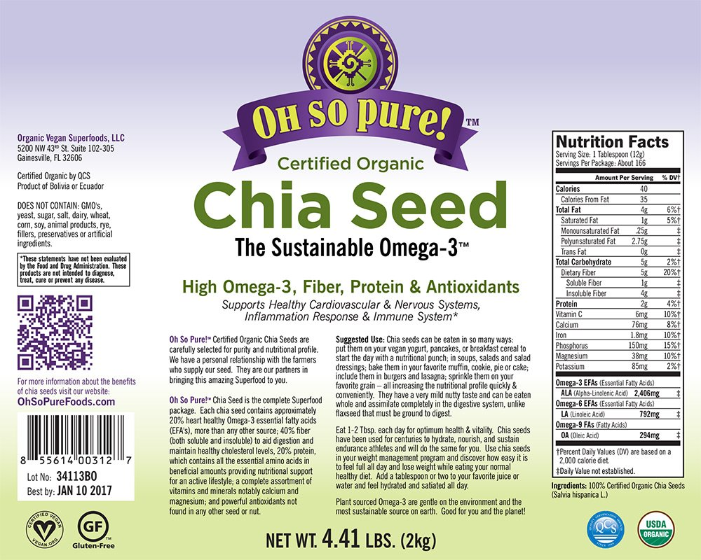 Organic Chia Seeds in Bulk-4.41 LBS.ON Sale Best Price ...
