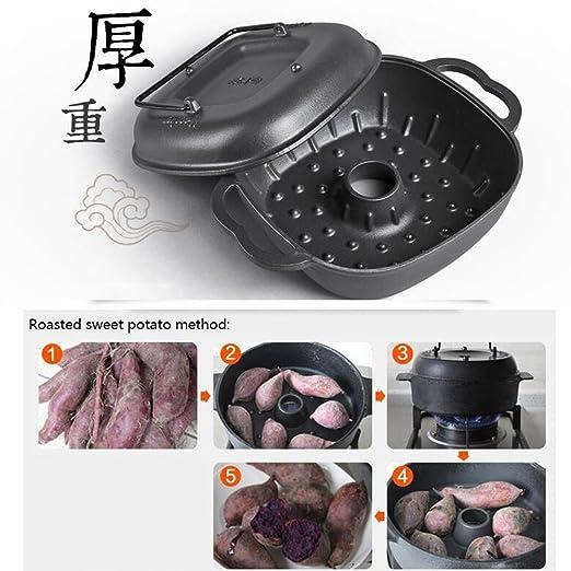 Horno a la plancha de hierro fundido Patata de camote asado 25cm Plato de hierro fundido Grillit Patata a la parrilla Marisco: Amazon.es: Hogar
