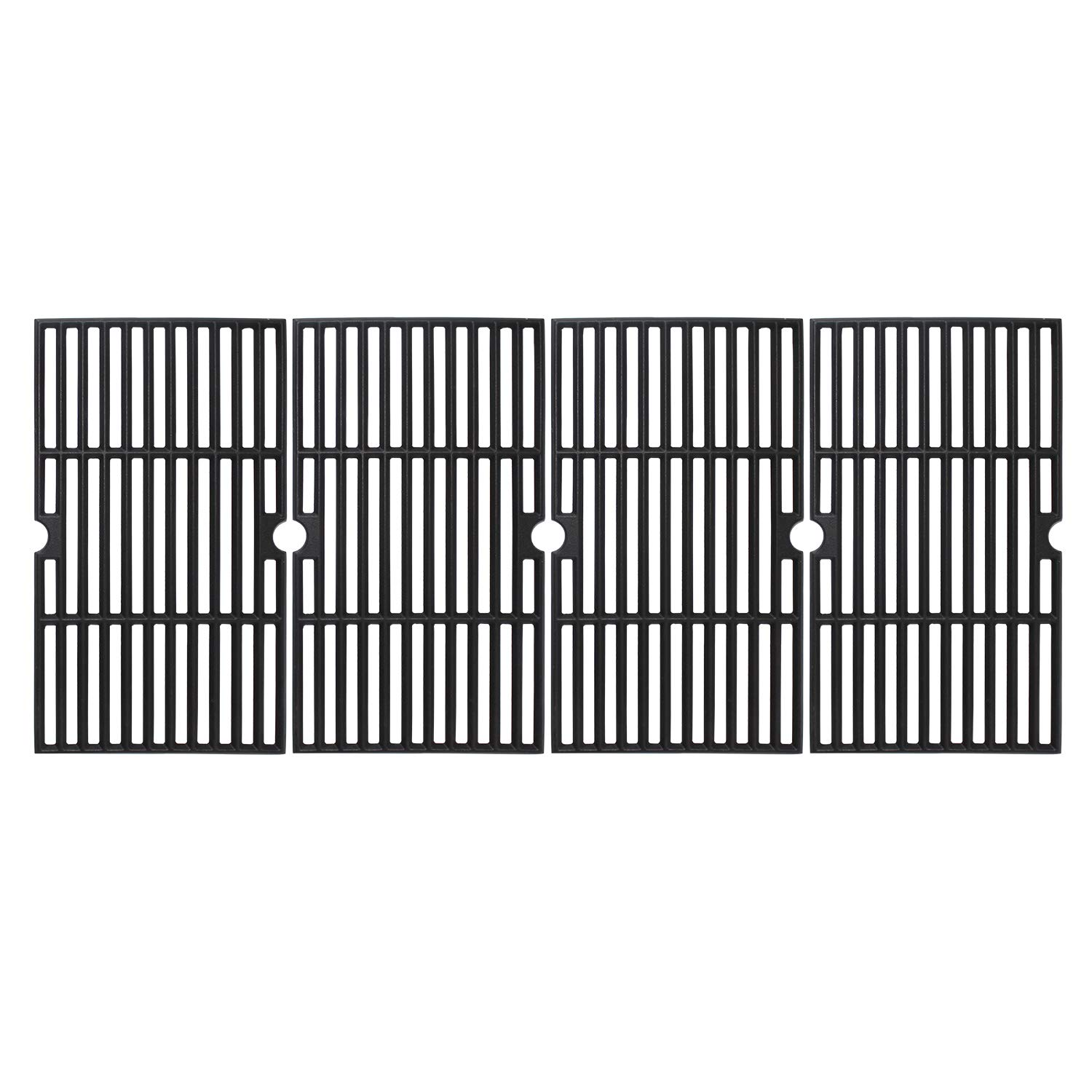 Grillflame 16 7/8 x 37 1/4'' Matte Enamel Cast Iron Cooking Grates for Charbroil 463230510, 463230511, 463230512, 463230513, 463230514, 463230710, 463234511