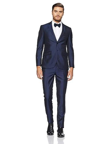 Peter England Men's Notch Lapel Slim Fit Suit Men's Suits & Blazers at amazon