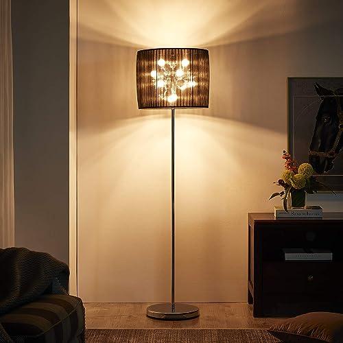 Modernluci Silver Crystal Floor Lamp