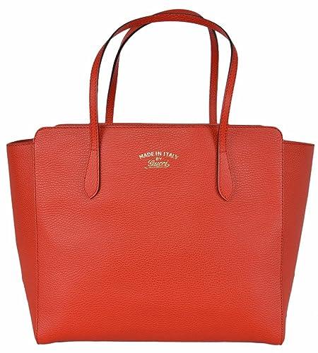 ff22f7ac7 Gucci mujer piel de textura, tamaño mediano, color rojo logotipo de marca  Swing Tote Bolso: Amazon.es: Zapatos y complementos