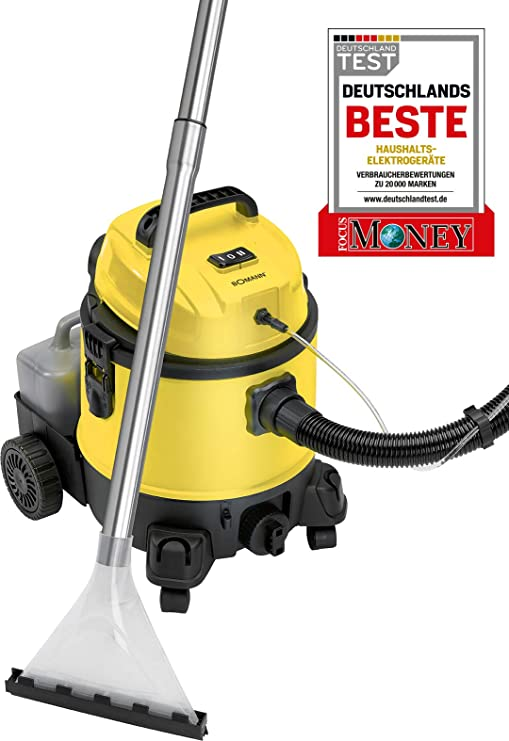 Bomann BSS 6000 Lava Aspiradora con Limpiador de Tapicería para Coche, 1200 W, 20 litros, Clase de eficiencia energética, negro y amarillo: Amazon.es: Hogar