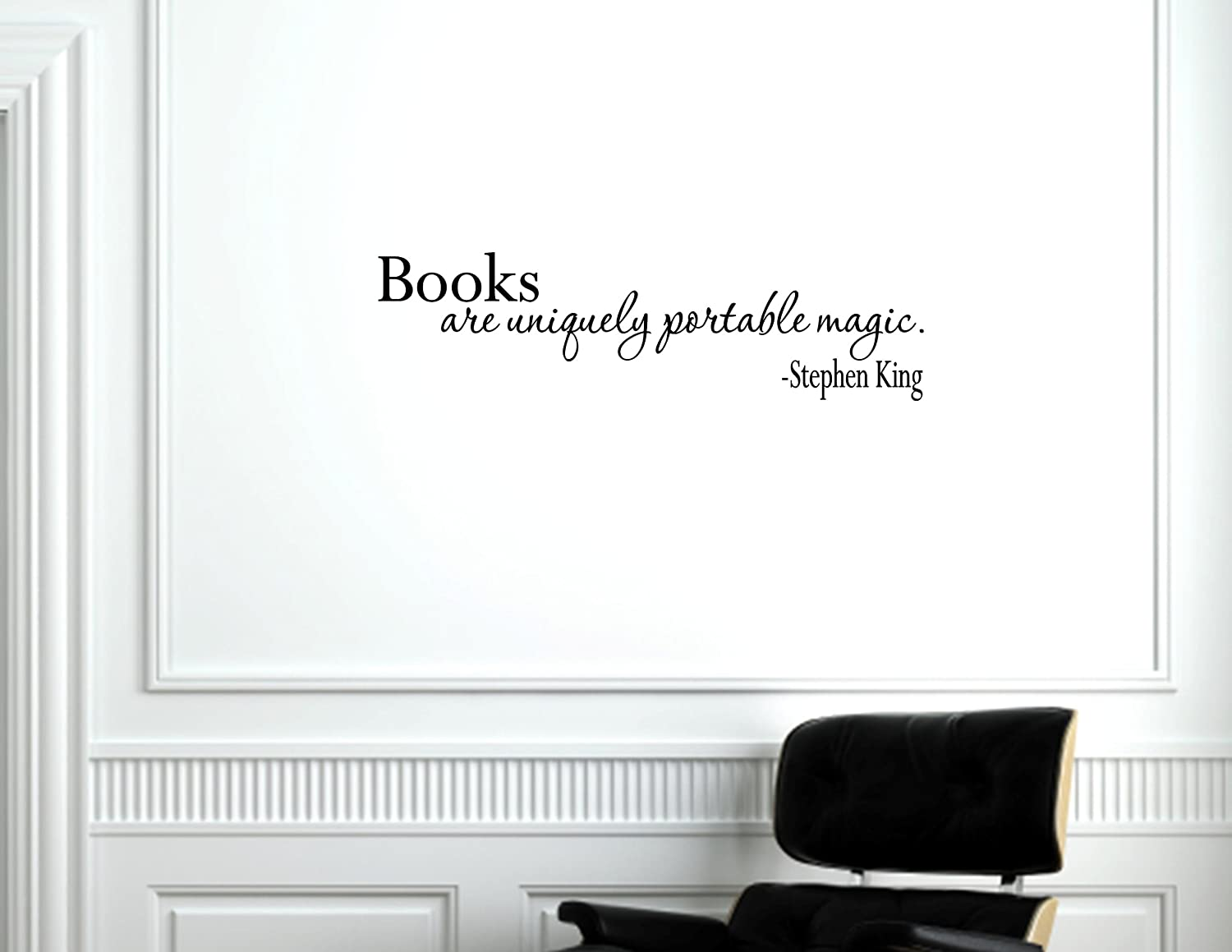 Amazon.com: Books Are Uniquely Portable Magic   Stephen King   Vinyl Wall  Decals Quotes S...: Home U0026 Kitchen