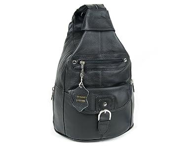 2b01ae1f73 Amazon.com  Women Genuine Leather Sling Purse Handbag Shoulder Bag .