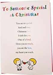 to Someone Special at Christmas - Cute Christmas Luxury Greetings Cards by Clarabelle Cards 5 x 7 inches