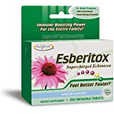 Enzymatic Therapy Esberitox Chewable Tablets, supercharged echinacea, great-tasting, 200 chewable tablets