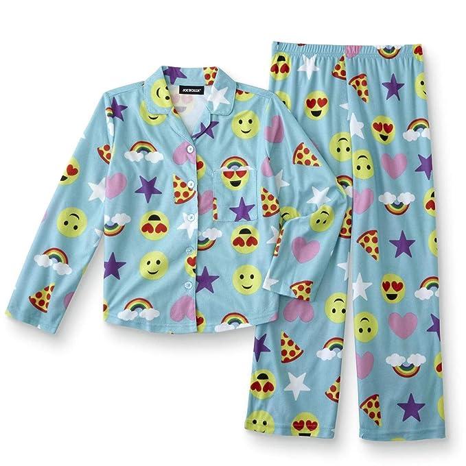 Amazon.com: JOE Boxer Niñas Azul franela pijamas Set Paz ...