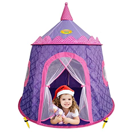 Children Purple Princess Castle Play Tent with Elegant Motif Print- Girl Playhouse Suitable for Kids  sc 1 st  Amazon.com : girl play tent - memphite.com