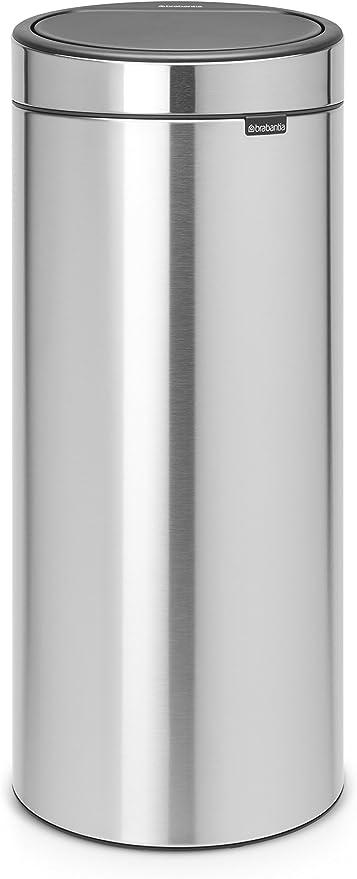 Brabantia 115349 Poubelle Touch Bin Unie New 30 L Inox Mat