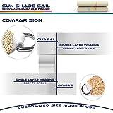 Windscreen4less Sun Shade Sail for Outdoor Patio