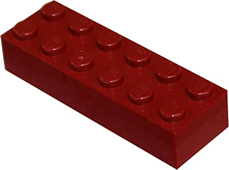 New LEGO Lot of 4 Dark Red 2x6 Basic Building Brick Pieces