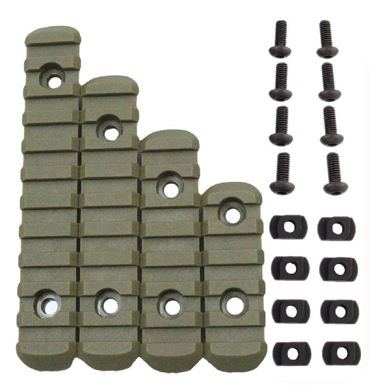 GVN Polymer 5, 7, 9, 11 Slots M-LOK Rail Section Fits M-LOK Hand Guard (Tan)