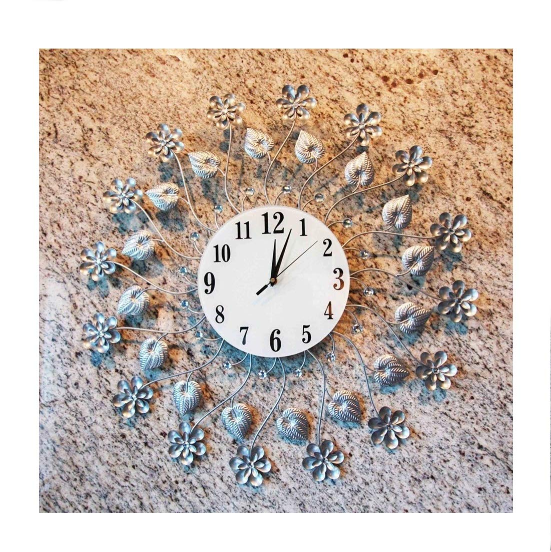 Ploywipada contemporary wall clock metal home decor wall decor wall art living front family great room lounge gift start the morning with bright 1pc 27