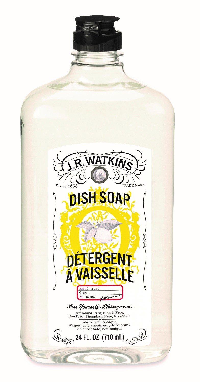 J.R. Watkins Liquid Dish Soap, Lemon, 24 ounce (Pack of 6)