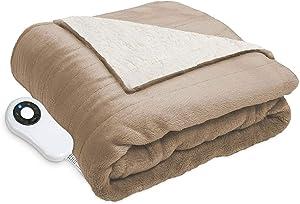 Serta Perfect Sleeper Reversible Heated Throw, 60 x 70 (Taupe)