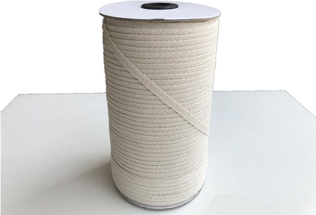 QIANF 100/% Cotton White Twill Tape 1//4 Wide 300 Yards Roll Herringbone Tape