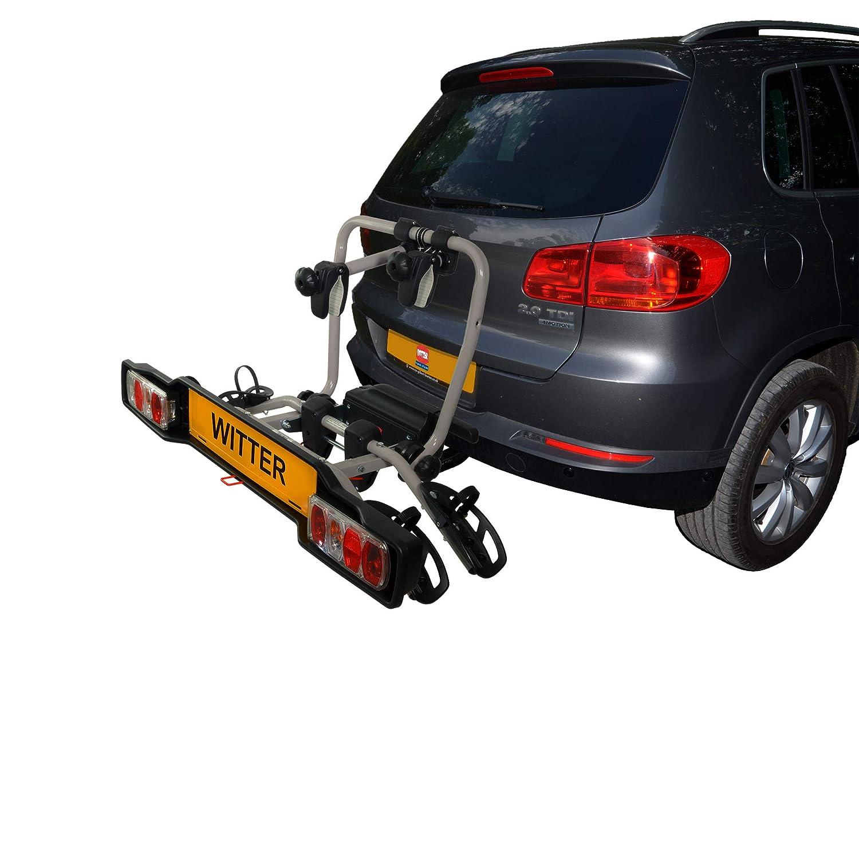 13-poligem Anschluss mit 60kg Zuladung Witter Towbars ZX304EU Fahrradtr/äger f/ür die Anh/ängerkupplung Kupplungsfahrradtr/äger f/ür 4 Fahrr/äder abklappbar 7- bzw Hecktr/äger inkl