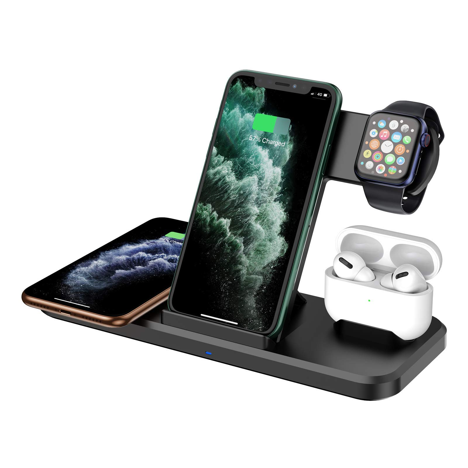 Wireless Charger 4 in 115W Fast Charger Station Compatible with iPhone 12
