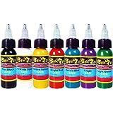 Solong Tattoo® kit tatuaggio 7 colore inchiostro tatuaggio Tattoo Ink Set TI301-30-7