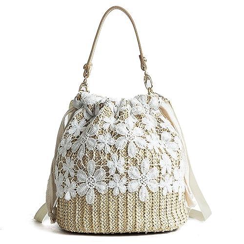 Amazon.com: ysmywm Mujer Encaje Flor bolso bolsa de día ...