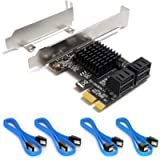 Ziyituod PCIe SATA Card, 4 Port with 4 SATA Cable, SATA Controller Expansion Card with Low Profile Bracket, Marvell 9215…