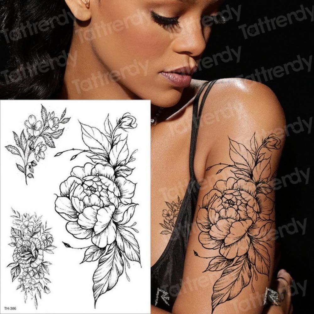 Handaxian 3pcsArm Negro boceto boceto del diseño del Tatuaje ...