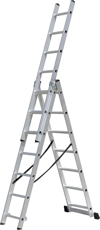 Men-Work-Escalera corredera, 3 x 7 peldaños, alto trabajo 5,15 m-ECH3P-7 m: Amazon.es: Bricolaje y herramientas