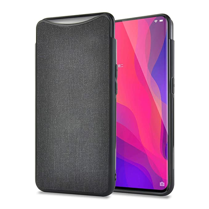 huge selection of 9c0ed f67fe Amazon.com: Olixar Oppo Find X Case - Slim Fit - Smooth Touch Fabric ...