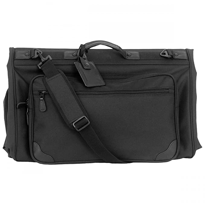 53dd279fc0 Amazon.com | Tri-fold Garment Bag (Black) (45