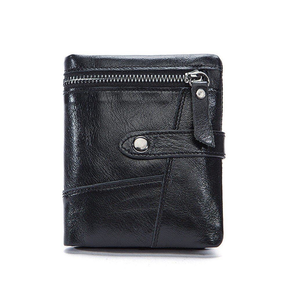 f80ef829ec26 Amazon.com: NHGY Men's Leather Wallet, Short Zipper Soft face ...