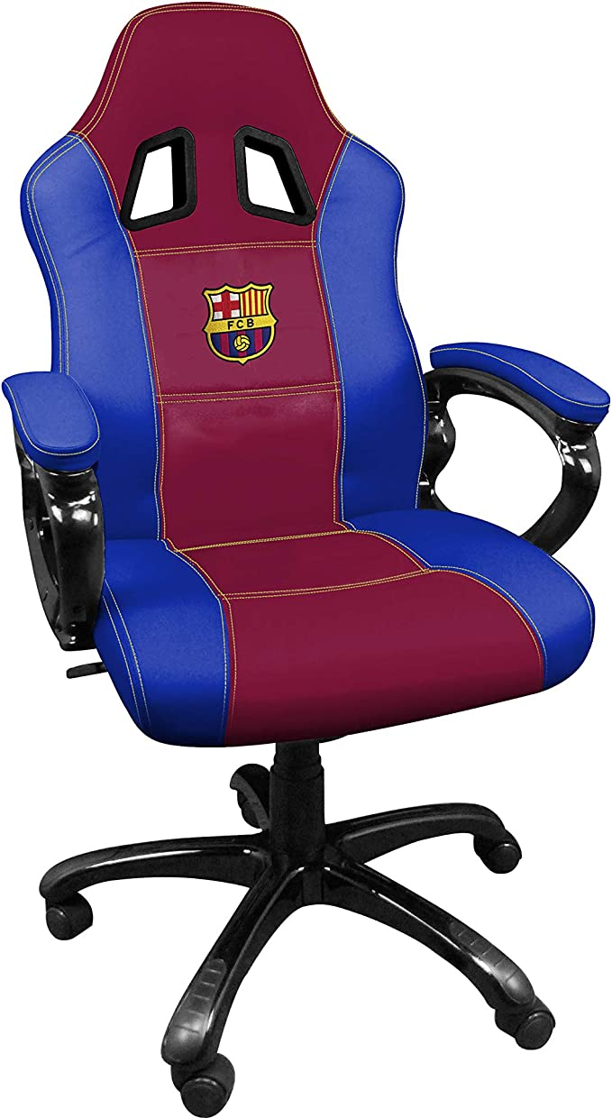 FCB FC Barcelona Silla gaming - Sillón gamer de oficina accesorio PS4, Xbox One, PC: Amazon.es: Videojuegos