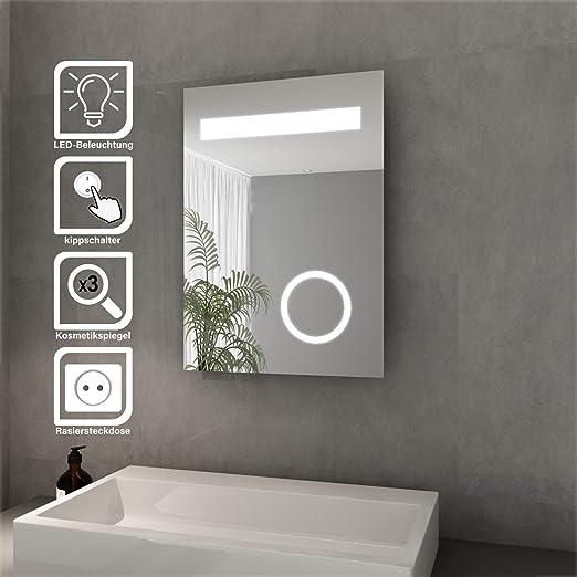 Elegant Badspiegel mit LED Beleuchtung Energiesparend LED