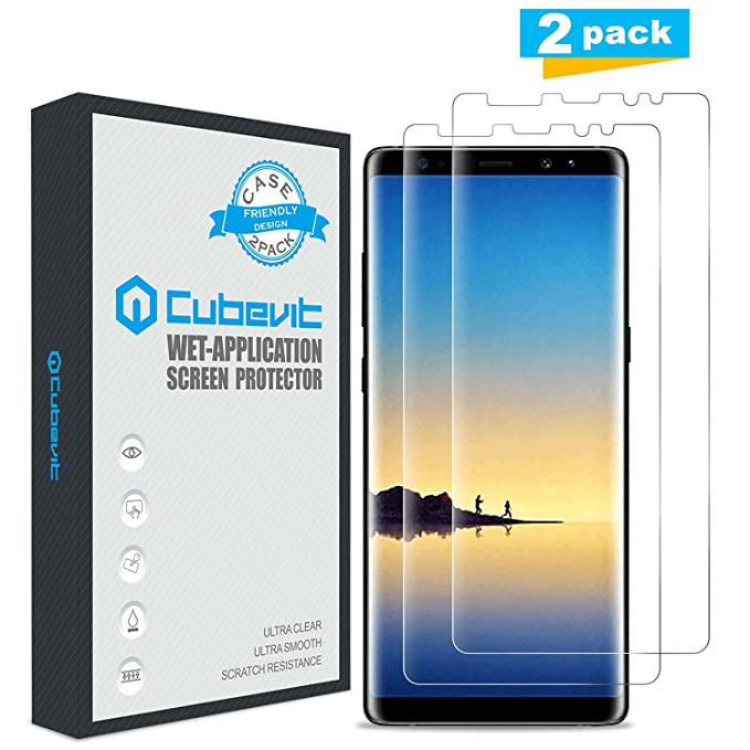 10 opinioni per Galaxy Note 8 Pellicola Protettiva, [2-Pack] Cubevit Proteggi Schermo Liquid